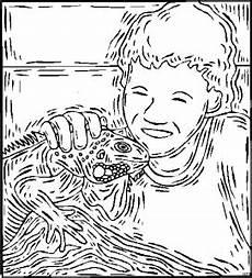 junge mit echse ausmalbild malvorlage tiere