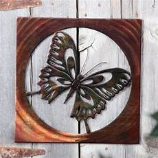 vivid butterfly indoor outdoor light reflective wall art contemporary outdoor decor by