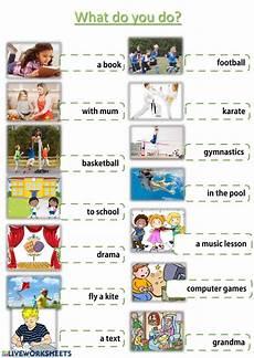 after school activities interactive worksheet