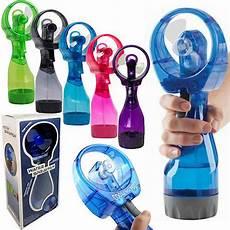 portable sport water bottle spray mist cooling fan