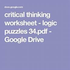 fraction worksheets 3952 critical thinking worksheet logic puzzles 34 pdf drive logic puzzles critical