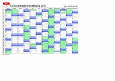 Schulferien Kalender Brandenburg 2017 Mit Feiertagen Und