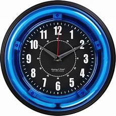 unique wall clocks decorative modern fun wall clocks 11 quot blue light neon clock ebay