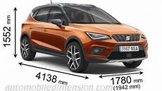seat arona 2018 dimensions boot space and interior