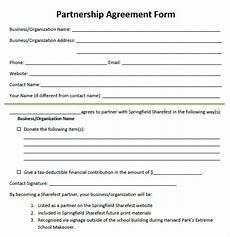 partnership form a free 15 sle partnership agreement templates in pdf