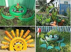 40 Ways To Repurpose Tires Into Animals For The