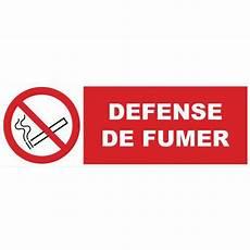affiche défense de fumer panneau d interdiction d 233 fense de fumer rigide