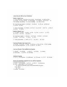 answer key for all gas laws worksheets answer key for all gas laws worksheets part i boyles