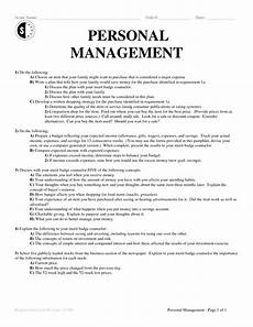 personal management worksheet 6 best images of personal management merit badge worksheet
