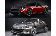 Miata Vs Fiat 124 by 2017 Fiat 124 Spider Vs 2017 Mazda Mx 5 Miata To