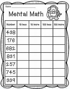 mental math freebie 2nd grade math fun stuff for primary grades pinterest math 2nd grade