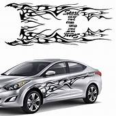 1 Set Car Truck Flame Totem Graphics Side Decal Vinyl Body