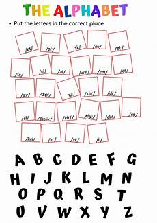 the alphabet interactive activity for elementary