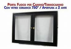 sportello per camino sportello con vetro ceramico 760 176 a due ante battenti x