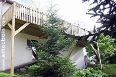 artecbois balcons en bois et terrasses suspendues et