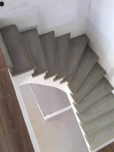 Escalier 1 4 Tournant B 233 Ton Gris Liss 233 Nez De Marche