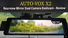 auto vox x2 fullscreen lcd rearview mirror dual