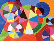 delaunay inspired color wheel painting fun family crafts