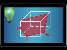 section d un cube par un plan exercice type bac