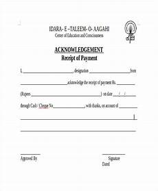 acknowledgement receipt template 11 free word pdf