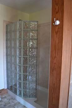 Duschwand Glas Walk In - glass block walk in shower with diy interior shower wall