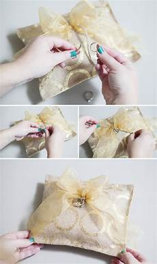 diy tutorials for making your own wedding ring pillows