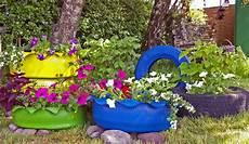Diy Autoreifen Bunt Anmalen Als Gartengestaltung