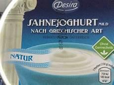 Griechischer Joghurt Kalorien - aldi griechisches naturjoghurt 10 kalorien joghurt fddb