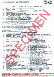 Certifauto Certificate Of Conformity C O C Order Your