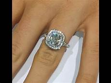 2 ct cushion cut diamond engagement ring in double halo youtube