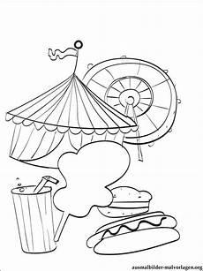 zirkus bilder zum ausmalen malvorlagen gratis