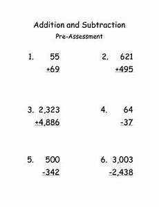 multi digits addition and subtraction worksheet multi digit addition and subtraction cycle