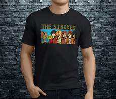casual tees tops crew neck sleeve gift the strokes shirts for in t shirts from s