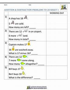 addition and subtraction word problem worksheet for grade 1 11295 1st grade addition and subtraction word problems