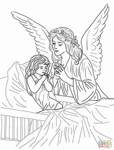 guardian prayers coloring page free printable