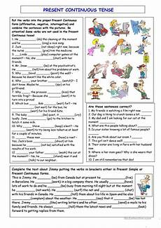 grammar worksheets present continuous tense 24932 present continuous tense