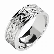 celtic knot white gold wedding band celtic wedding rings rings from ireland
