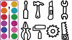 coloring 10 construction tools painting and drawing for