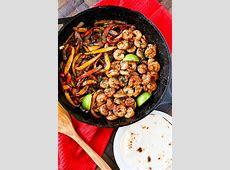 Skillet Shrimp Fajitas Easy Dinner Recipe   No. 2 Pencil