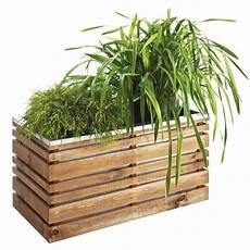Bac 224 Plantes Rectangulaire Lignz En Bois Et Acier