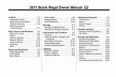 car maintenance manuals 2004 buick regal user handbook 2011 buick regal toledo owner manual