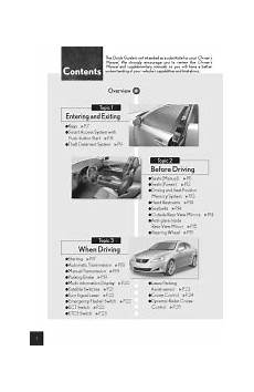 online service manuals 2011 lexus is f navigation system 2007 lexus is 250 manuals