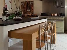 ilot central table coulissante table cuisine escamotable tiroir d 233 co ammenagement en