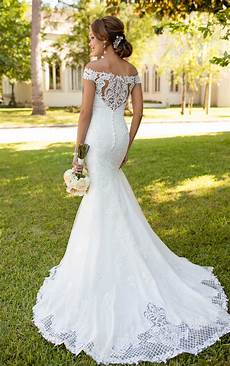 bohemian lace wedding gown stella york wedding gowns