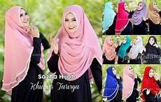 Jilbab Khimar Tarisya 2 Layer Sifon Ceruti
