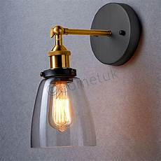 decore vintage industrial wall lights metal rustic sconce glass wall light ls ebay