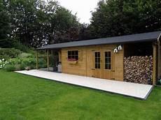 Abri De Jardin Classique Avec B 251 Cher Et Terrasse Couverte