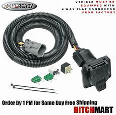 ford f250 trailer wiring 7 way trailer hitch wiring for 1999 2001 ford f250 sd pickup w factory 4 flat ebay