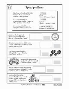speed problems worksheet 4th grade math worksheets calculating speed greatschools