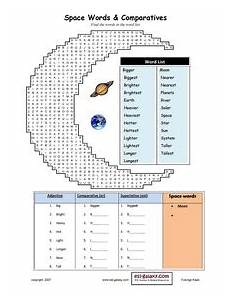 esl english vocabulary printable worksheets space the